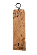 Decorative Mango Wood Tray w/ Metal Hook