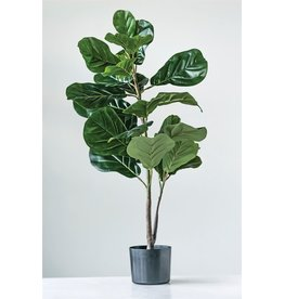 Faux Fiddle Leaf Plant In Pot