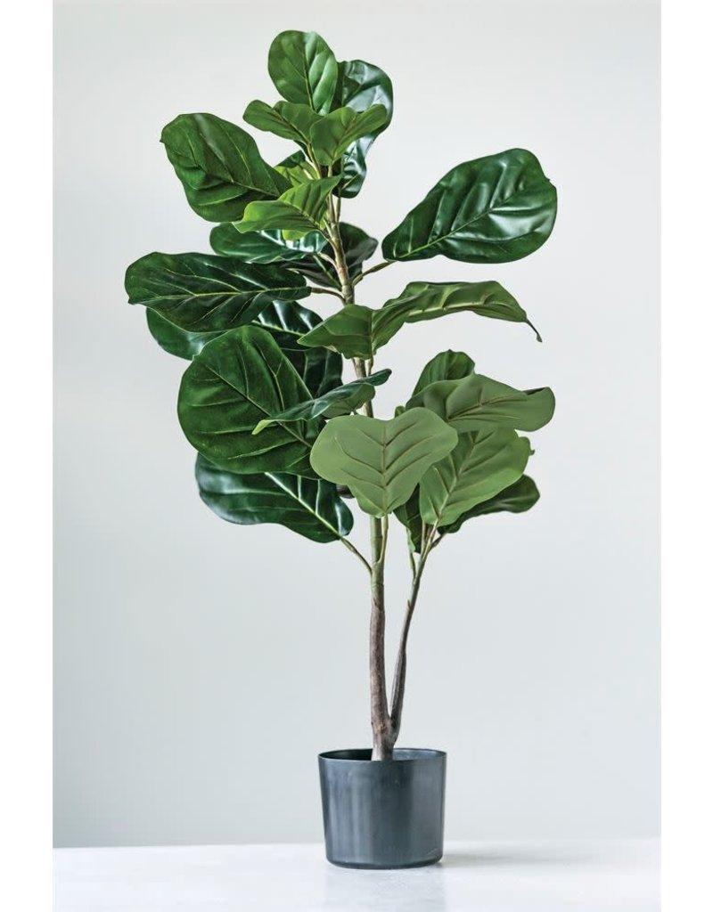 Faux Fiddle Leaf Plant In Pot