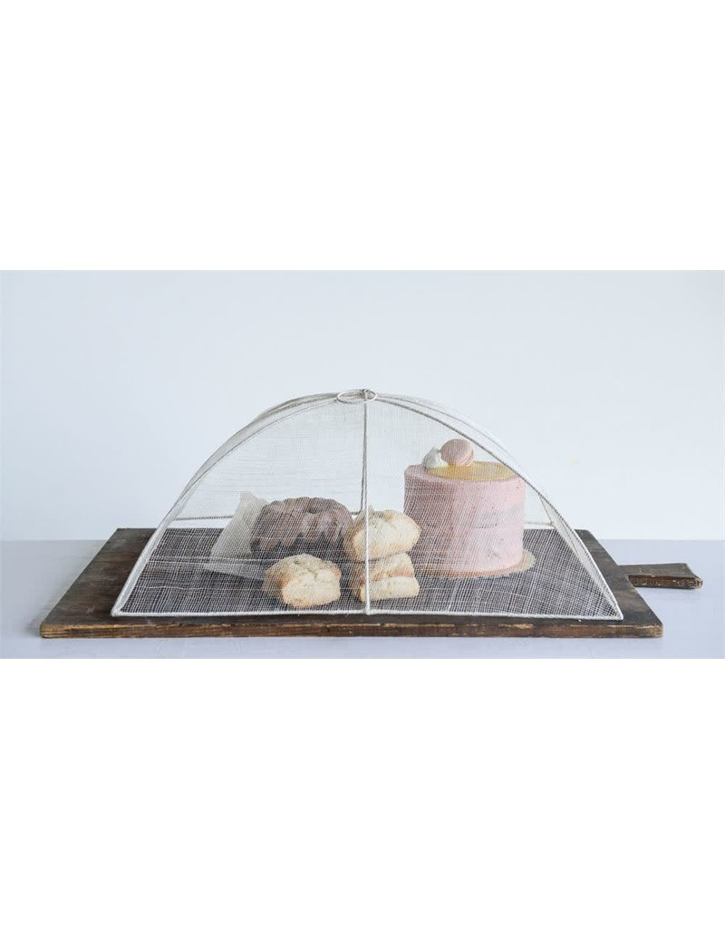 Rectangle Abaca & Wire Food Cover w/ Handle