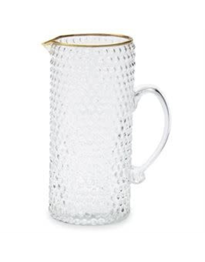 Gold Bubble Glass Pitcher