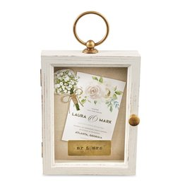 Mr. & Mrs. Hanging Wooden Shadow Box