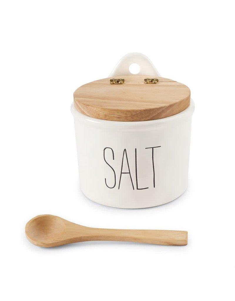Bistro Salt Cellar & Spoon Set