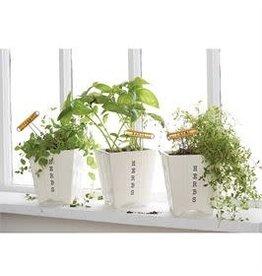 Herb Pot & Marker Set-Basil