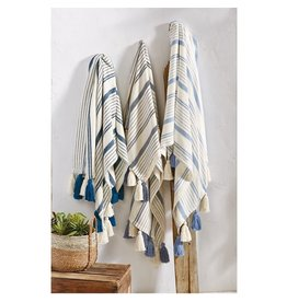 Woven Stripe Tassel Throws