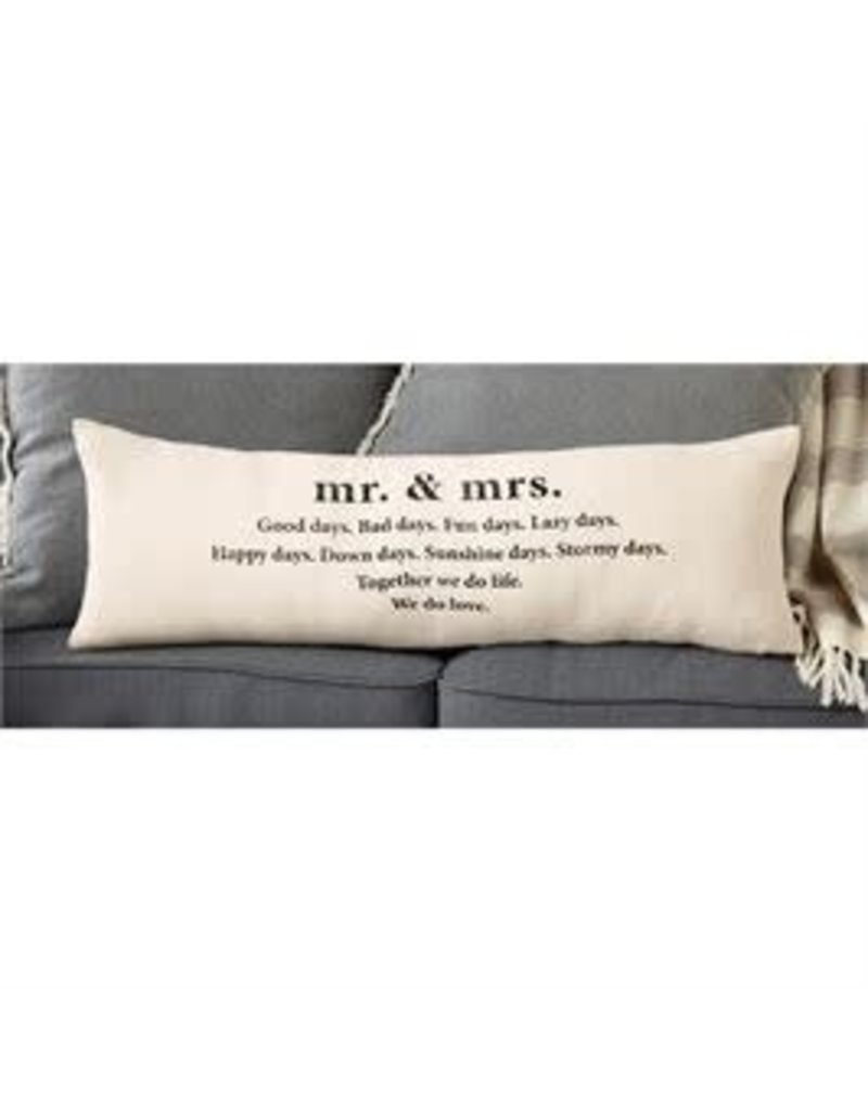 Mr. & Mrs. Definition Pillow
