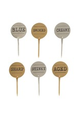 Brass & Silver Cheese Marker Set