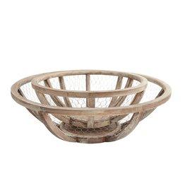 Wire & Wood Bowl Set