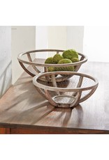 Wire & Wood Bowl Set