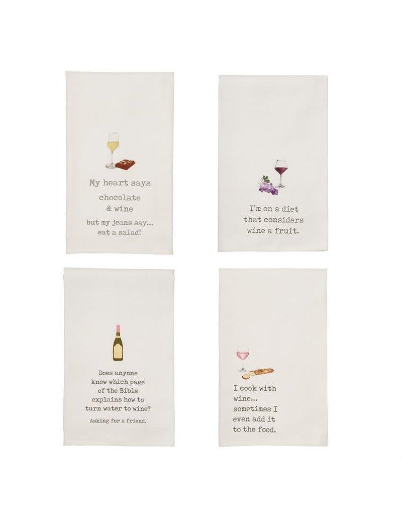 Wine & Food Humor Hand Towel