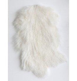 """35"""" L Mongolian Lamb Fur-White"""