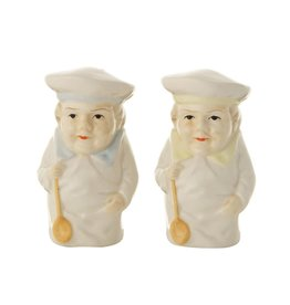 Vintage Chef Salt & Pepper Shaker Set