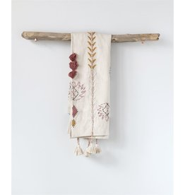 "Embroidered Cotton Throw-50"" x 60"""