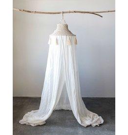 8' Hanging Macrame Canopy w/ Tassels