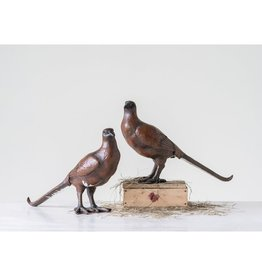 "12""L x 4"" W x 8""H Resin Pheasant, Brown, 2 Styles"