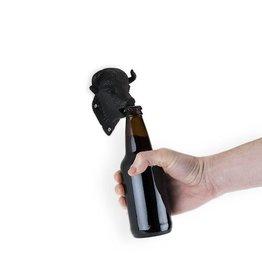 Wall Mounted Bison Bottle Opener