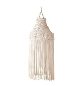 Cotton Hanging Cotton Macrame w/light fixture
