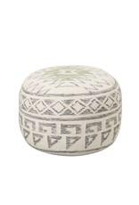 Wool Blend Pouf Seat