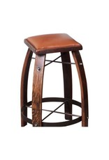 Leather Barrel Stave Stool