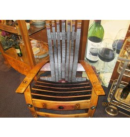 Wine Barrel Chair w/Flare Staved Back