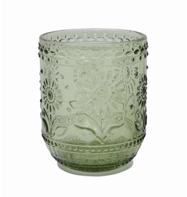 "4"" Embossed Drinking Glass"