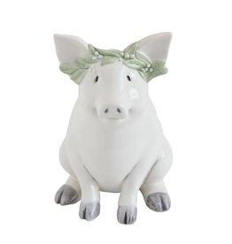 "Ceramic Piggy Bank-6"" x 6"""