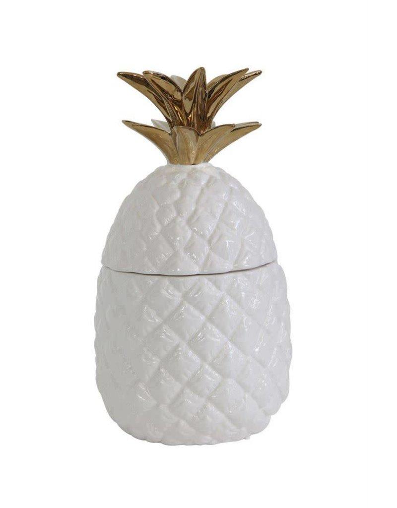 Ceramic Pineapple Storage Jar