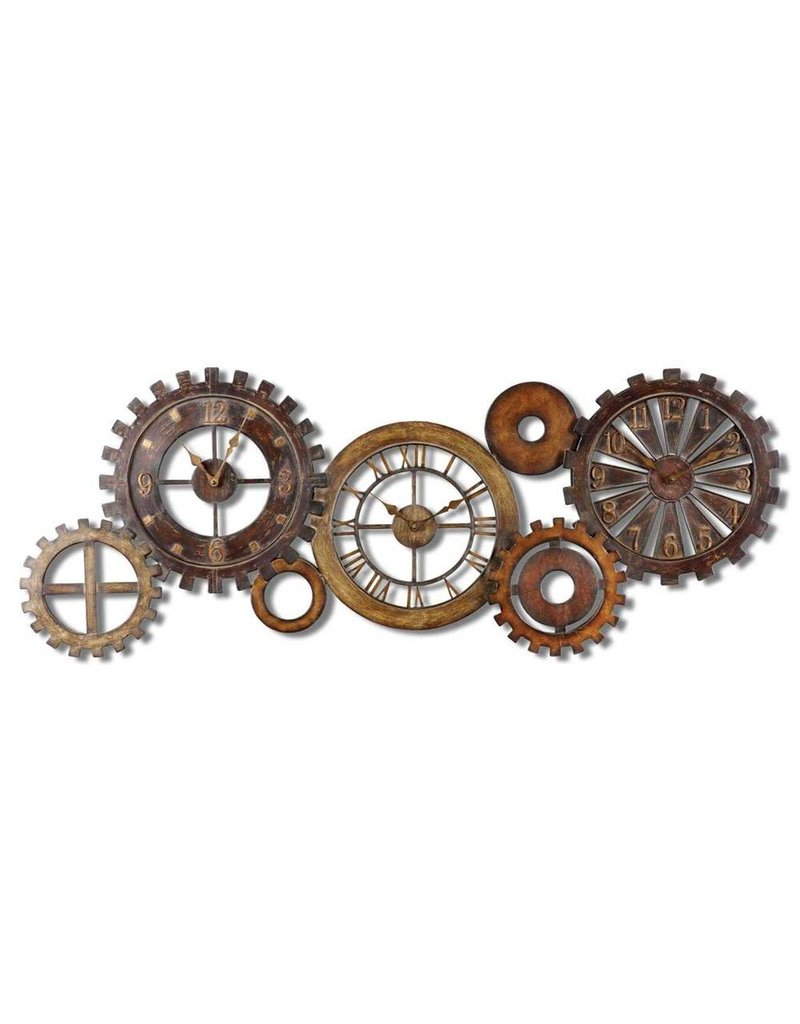 Antiqued Parts Clock