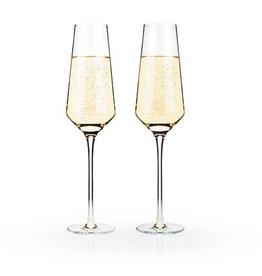 Raye Crystal Champagne Glasses s/2