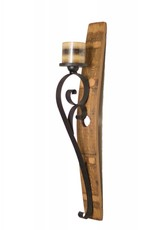 Double Scroll Wall Sconce-Rust Color
