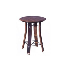 "28"" Wine Barrel Table"