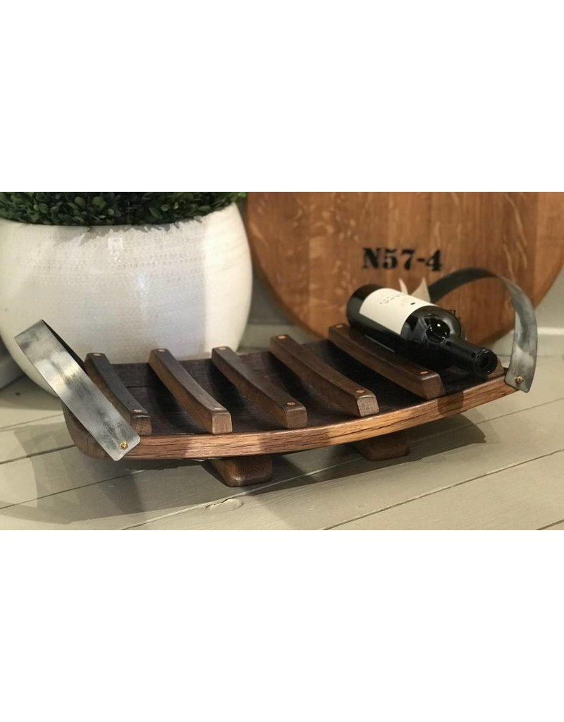Small Tabletop Wine Rack W Double Handles Napa Valley Dreaming
