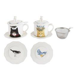 Cat Mug Tea Set