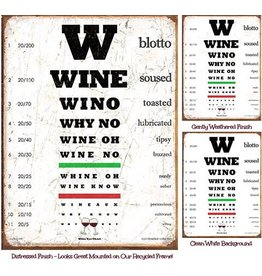 Wine Eye Chart-Weathered & Unmounted