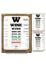 Wine Eye Chart - Mounted