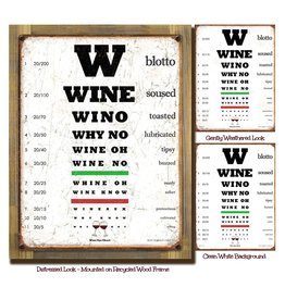 Wine Eye Chart - Mounted