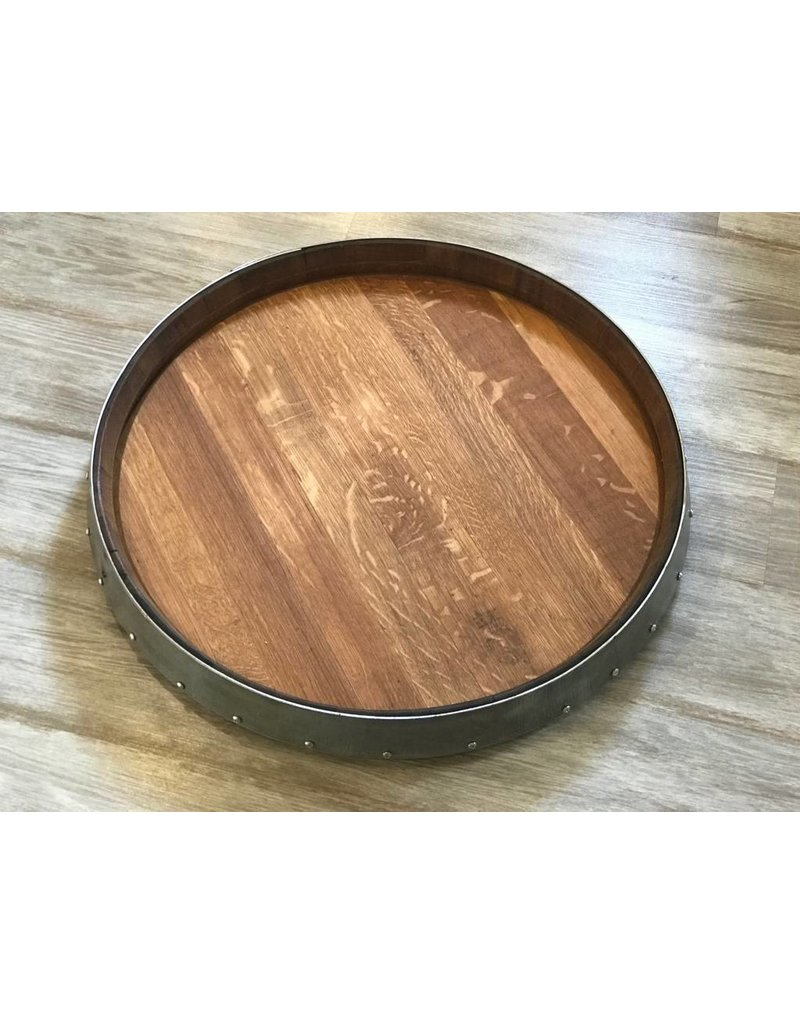 24 Wine Barrel Lazy Susan W Bands Domain Home Garden Napa