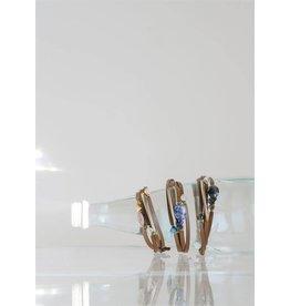 Leather & Stone Bracelet