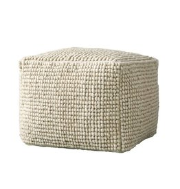 New Zealand Wool & Cotton Pouf
