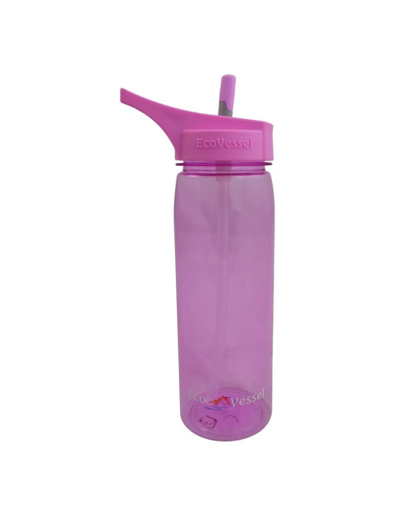 EcoVessel ECOVESSEL WAVE TRITAN PLASTIC BOTTLE WITH STRAW