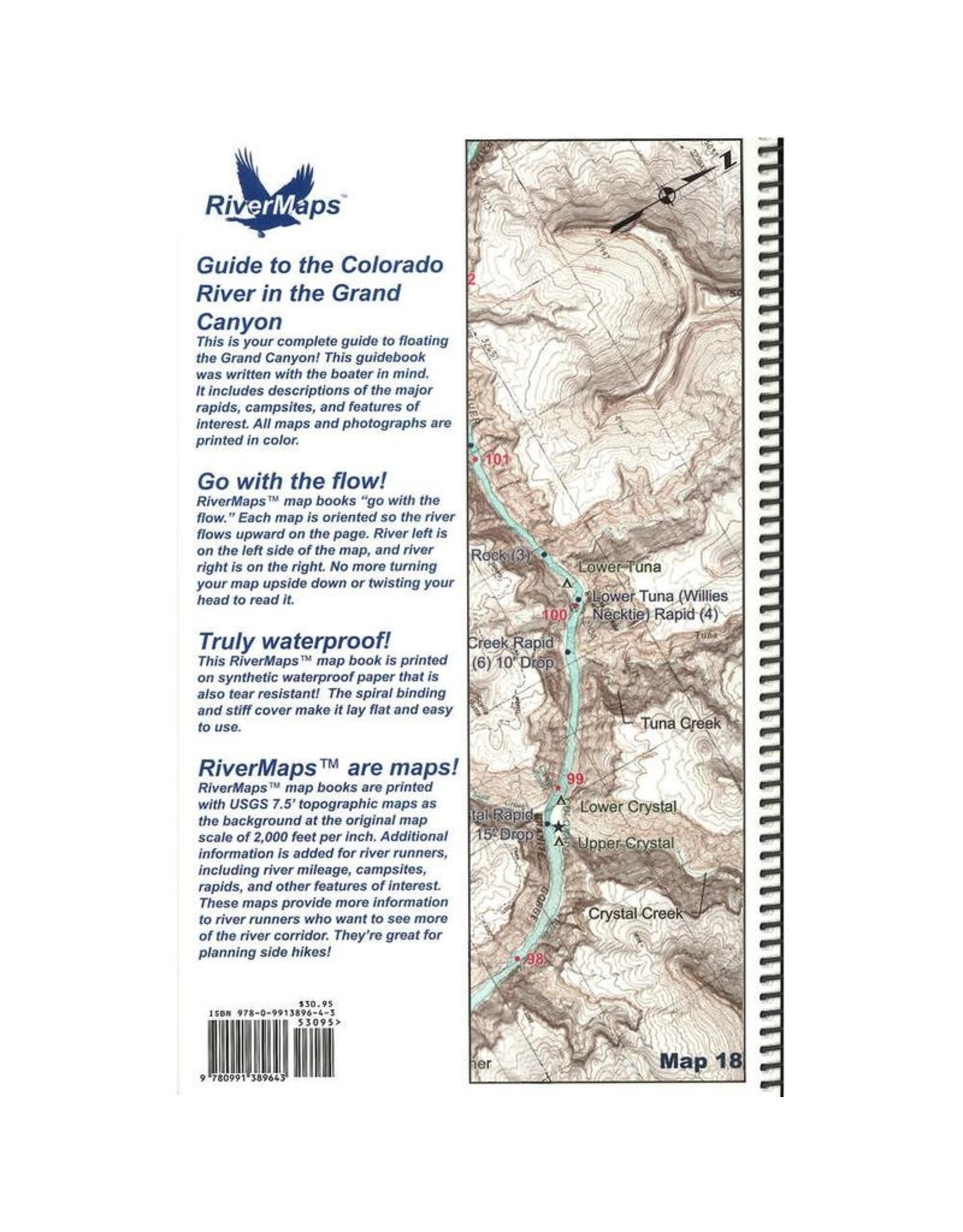 River maps Guide to the Colorado River in the Grand Canyon: Lees Ferry to South Cove Spiral-bound