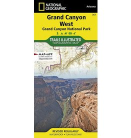 Nat Geo GRAND CANYON WEST MAP