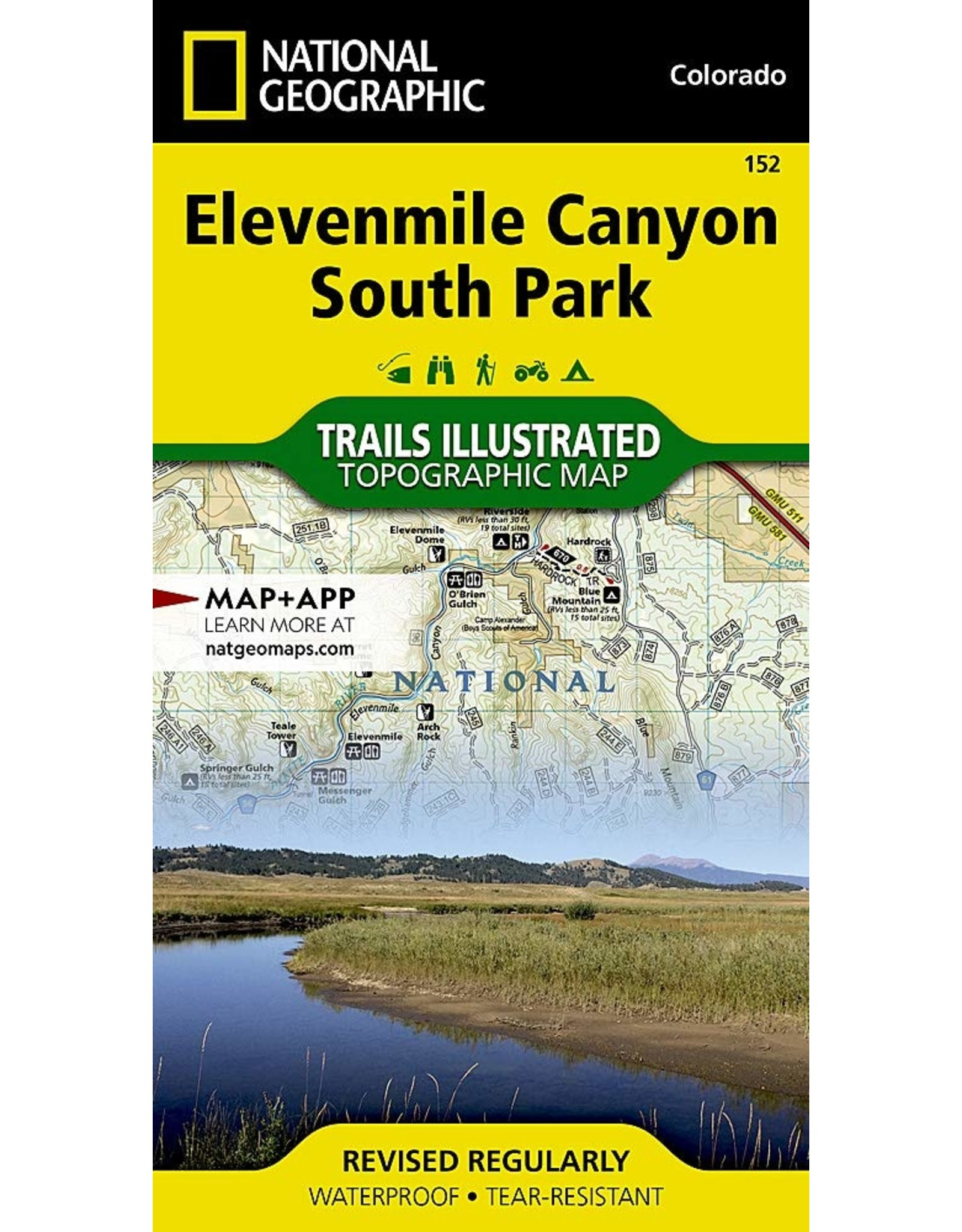 Nat Geo Elevenmile Canyon, South Park (National Geographic Trails Illustrated Map, 152) Map – Illustrated
