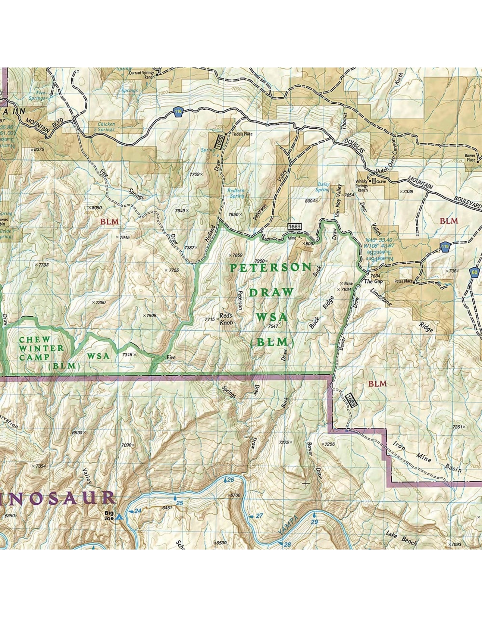 Dinosaur National Monument (National Geographic Trails Illustrated Map, 220) Map – Folded Map