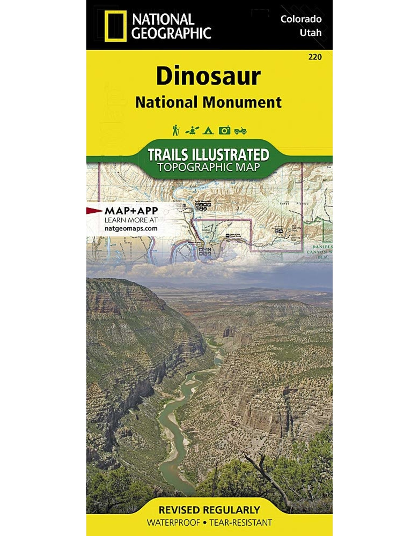 Nat Geo Dinosaur National Monument (National Geographic Trails Illustrated Map, 220) Map – Folded Map