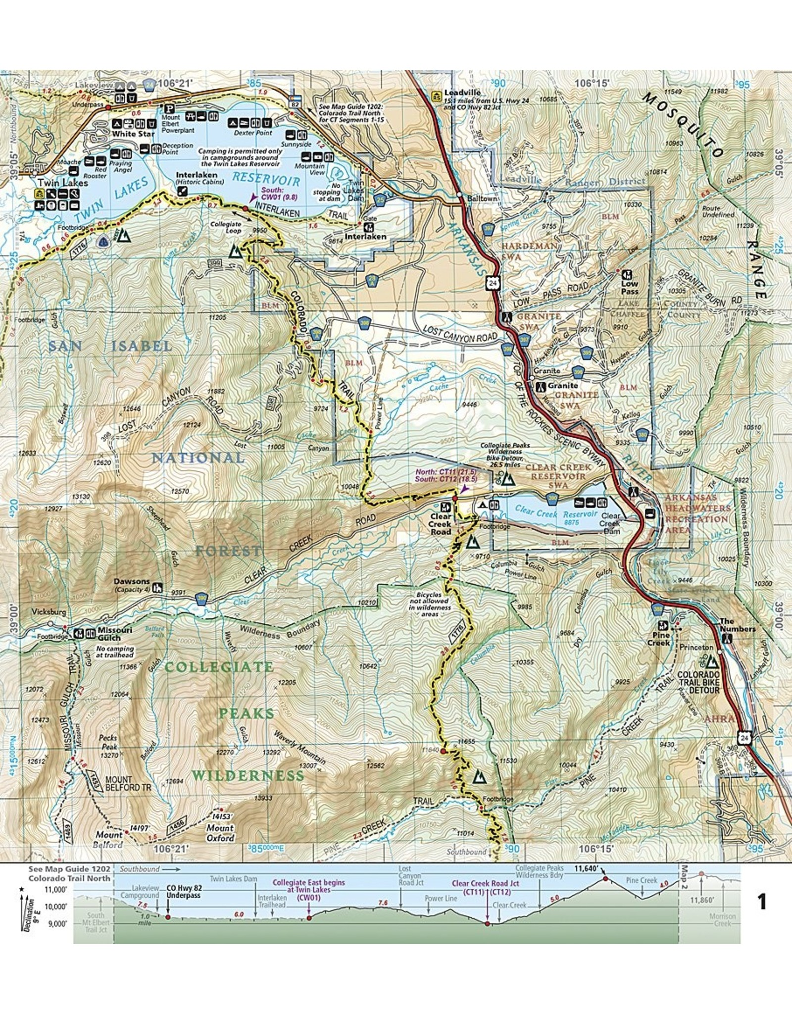 Nat Geo Colorado Trail, Collegiate Loop (National Geographic Topographic Map Guide, 1203) Map – Folded Map