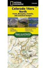 Colorado 14ers North [Sawatch, Mosquito, and Front Ranges] (National Geographic Topographic Map Guide, 1302) Map – Folded Map