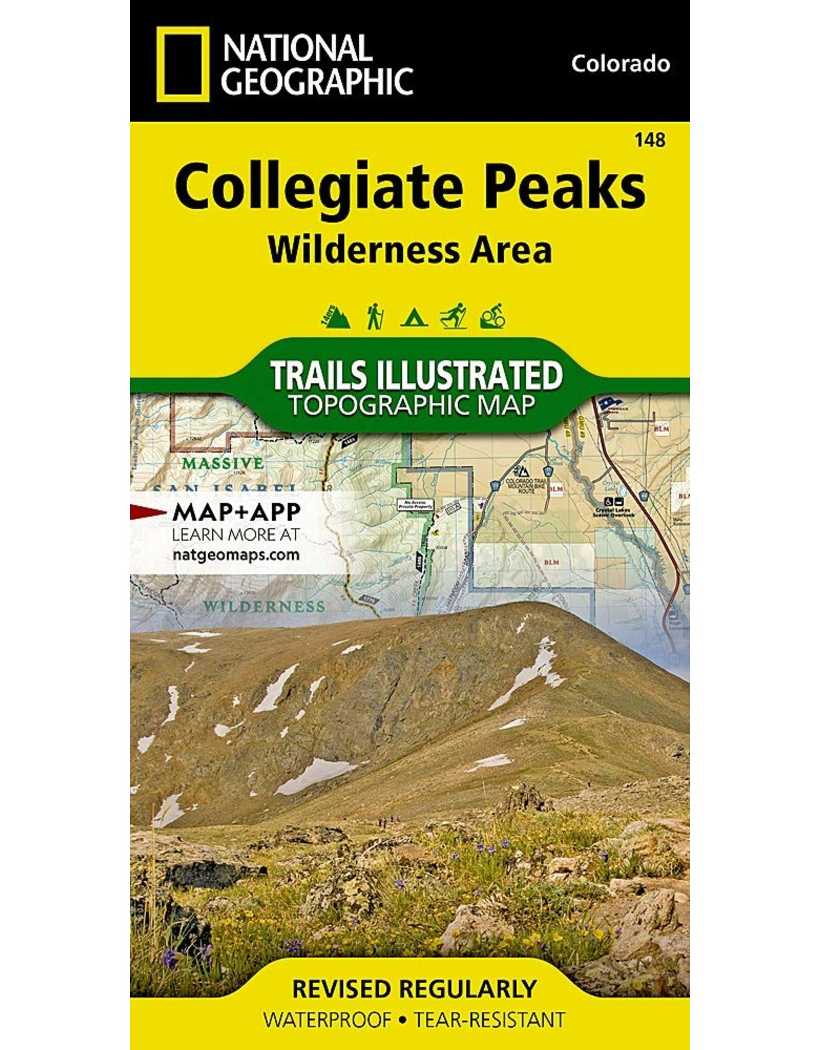 Nat Geo Collegiate Peaks Wilderness Area (National Geographic Trails Illustrated Map, 148) Map – Folded Map