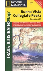 Nat Geo Buena Vista, Collegiate Peaks (National Geographic Trails Illustrated Map, 129) Map – Folded Map