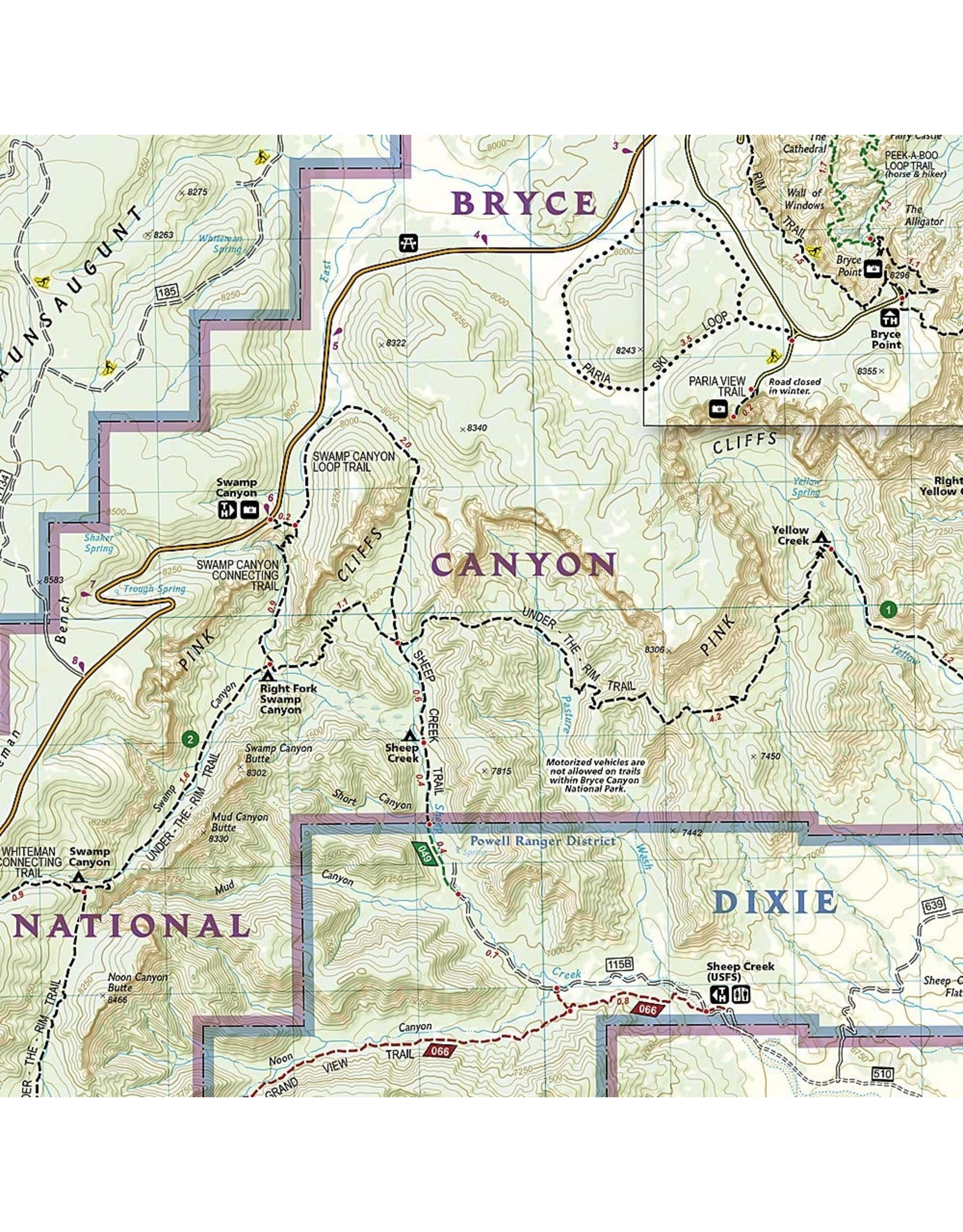 Nat Geo Bryce Canyon National Park (National Geographic Trails Illustrated Map, 219) Map – Folded Map